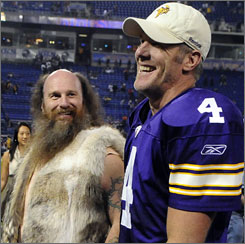 Brett Favre has thrown just three interceptions while leading the Vikings to a 10-1 start this season.
