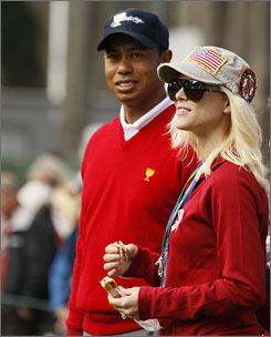 Tiger Woods and his wife, Elin Nordegren, in San Francisco in October.