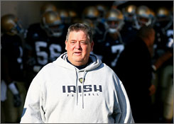 Charlie Weis' tenure at Notre Dame ended on Monday when the school fired him after five seasons and a 35-27 record.