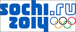 Logo for the 2014 Sochi Winter Olympics.