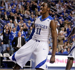 Kentucky's freshman guard John Wall, who grew up in North Carolina and rooted for the Tar Heels, will face off against his hometown team when Kentucky hosts North Carolina on Saturday in Rupp Arena.