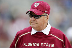 Florida State coach Bobby Bowden, who is retiring at the end of the season, hosted his last radio show Thursday.