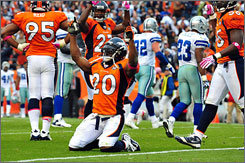 Broncos safety Brian Dawkins has keyed a surprising performance by the unit since joining the team last offseason.