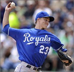The one constant in the Royals' rotation in 2009 was American League Cy Young winner Zack Greinke.