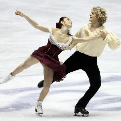 Meryl Davis and Charlie White compete in the free dance in Tokyo.