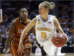 Tennessee's Angie Bjorklund  scored 15 points to hep the Lady Vols defeat Yvonne Anderson and No. 17 Texas.