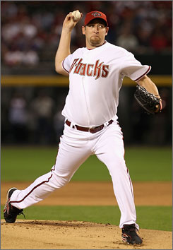 Diamondbacks ace Brandon Webb pitches on opening day April 6, which turned out to be his only start of 2009 because of a right shoulder injury that required surgery in August.