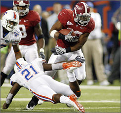 A strong performance in the SEC title game helped propel Alabama running back Mark Ingram to the top of the final Heisman Watch of the season.