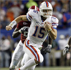 Florida quarterback Tim Tebow will be in New York as a finalist for the Heisman Trophy for the third consecutive year.
