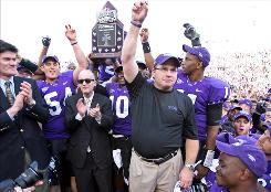 TCU, celebrating Nov. 28 after clinching the Mountain West title and a 12-0 regular season, got an automatic BCS berth by finishing No. 4 in the standings. Boise State (13-0) was No. 6 but needed an at-large bid into the BCS.