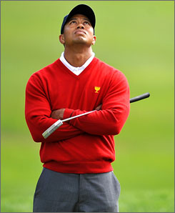 Tiger Woods said he will take an indefinite break from professional golf to tend to his family.