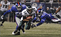 DeSean Jackson scored on a 72-yard punt return and a 60-yard pass in the Eagles' win on Sunday.