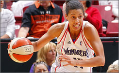 Former Monarchs player Nicole Powell has a new home after being picked by the New York Liberty in Monday's draft.