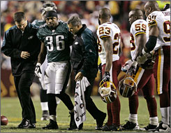 Eagles RB Brian Westbrook has suffered two concussions this season and has played in just one game since October.