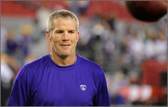 Brett Favre says if the Vikings win the Super Bowl this season, he might move into  and stay  a long-awaited retirement.