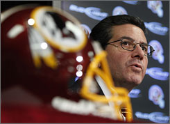 "Daniel Snyder said it was ""time for a change"" as he bid goodbye to Vinny Cerrato and welcomed George Allen on Thursday."
