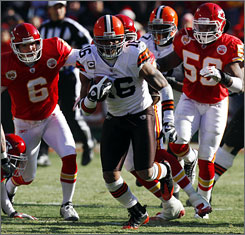 Josh Cribbs set an NFL record with his seventh and eighth career kick-return TDs on Sunday.