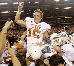 If officials did not put one second back on the clock, Texas kicker Hunter Lawrence wouldn't have been able to deliver the game-winning field goal and send the Longhorns to the title game.