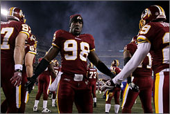 Redskins rookie Brian Orakpo could be a contender for Defensive Rookie of the Year honors.