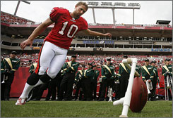 Connor Barth, the older of the two Barth boys, is the kicker for the Tampa Bay Buccaneers. He, too, kicked in college at the University of North Carolina.