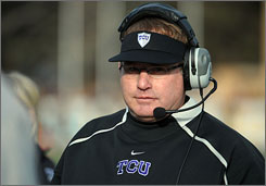 TCU head coach Gary Patterson was named the Associated Press' national coach of the year after leading his squad to a perfect regular season and a Mountain West championship.