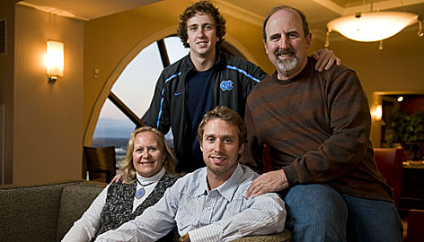 Sue and Tom Barth find themselves busy this holiday season following sons Connor, center bottom, a kicker for the NFL's Tampa Bay Buccaneers and Casey, top left, who kicks for the University of North Carolina.