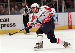 The Washington Capitals' Alexander Ovechkin, the NHL's reigning MVP, will skate for Russia in the 2010 Vancouver Olympics.