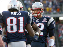 Patriots QB Tom Brady led his team to another AFC East title on Sunday.