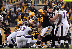 The Steelers improved to 8-7 with their win against the Ravens on Sunday.