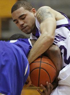Northwestern's Michael Thompson in a Dec. 22 game vs. Central Connecticut State. The Wildcats hope to make the NCAA tourney for the first time.