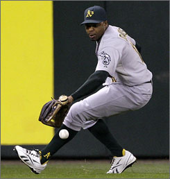 Rajai Davis was looking like the everyday center fielder, but the signing of free agent Coco Crisp likely means he'll be moved to left field, displacing Scott Hairston.