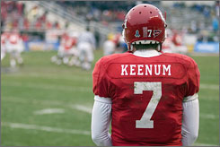 Houston QB Case Keenum watched as Air Force ran away with a 47-20 victory on Thursday.