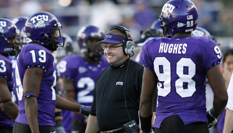 Coach Gary Patterson, whose TCU Horned Frogs are ranked No. 3 in the USA TODAY coaches' poll, is excited to be in the Fiesta Bowl but wants his team to finish the job.