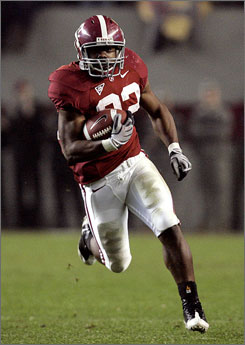 Alabama running back and Heisman Trophy winner Mark Ingram rushed for 1,542 yards and 15 touchdowns this season.