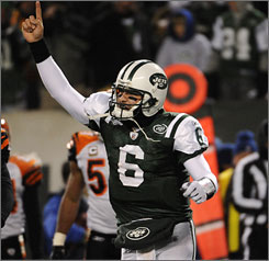 Quarterback Mark Sanchez and the Jets will hope to replicate their success against the Bengals when the teams meet again in the playoffs next Saturday.