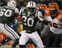 Thomas Jones and the Jets have the top-ranked rushing offense in the NFL.