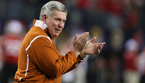 Texas coach Mack Brown is back in the BCS title game just four years after leading the Longhorns to the national championship in a Rose Bowl victory over Southern California.