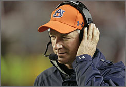 Tommy Tuberville last coached at Auburn, where he compiled an 85-40 record in 10 years.