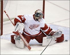 Red Wings rookie goalie Jimmy Howard  has gone 5-1-1 since Christmas, improving to 16-9-2 on the season.