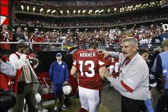 After his performance on Sunday against the Packers, Cardinals quarterback Kurt Warner doesn't look ready to leave the stage just yet.