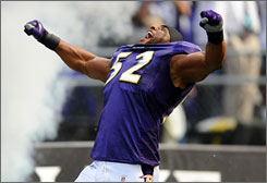 Ray Lewis earned eight Pro Bowl berths  and won a Super Bowl  with the Ravens during the 2000s.