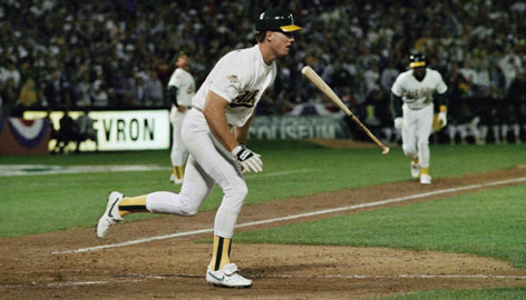 Mark McGwire, with the Oakland Athletics, became the first player to hit at least 30 homers his first four seasons.
