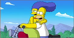 "Homer and Marge Simpson will become Olympians when they head to Vancouver to represent the USA in mixed curling during a February episode of ""The Simpsons"" that will coincide with the real 2010 Vancouver Olympics."