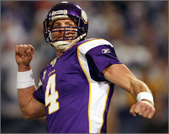 Brett Favre and the Vikings will welcome the Cowboys to Minnesota on Sunday for a divisional playoffs matchup.