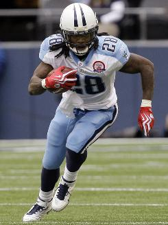 Tennessee's Chris Johnson runs against the Seattle Seahawks this season. Johnson was the lone unanimous pick for the AP All-Pro team.