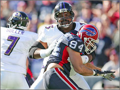 Jonathan Ogden earned 11 Pro Bowl invitations during his 12-year career with the Ravens.