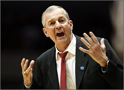Connecticut announced Tuesday that men's basketball coach Jim Calhoun will take a medical leave of absence from the team.