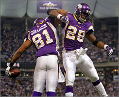 Visanthe Shiancoe and the Vikings are traveling to New Orleans for the NFC title game on Sunday.