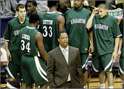 Interim coach Mark Macon has guided the Binghamton Bearcats to a 7-12 overall mark, including 2-2 in America East.