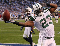 Jets rookie Shonn Greene has rushed for more than 100 yards and scored a touchdown in each of the team's playoff wins.
